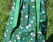 St. Patrick's Day pPillowcase dress featuring Snoopy-Bless your Irish heart-sizes 3months thru 6/7 available :SP005