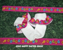 Happy Easter Socks Girls :S008