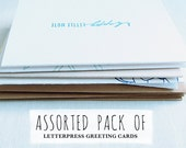 Letterpress Greeting Cards Assorted Pack of 5