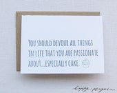 Letterpress Birthday Card - Especially Cake