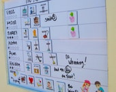 Large chore chart. Dry erase and magnetic. cleaning. to do. reward system. teach kids about money. responsibility. family organization.