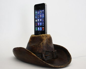 Cowboy Hat iPhone Charger - iPhone 4, iPhone 4S, iPhone 5, iPhone 5S Dock - Docking Station