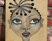 Original African style Art on Wood