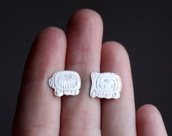 Tzolkin Tzolkin, sterling silver stud earrings from the Maya calendar