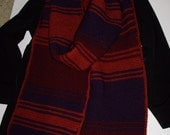 Season 18 Acrylic Doctor Who Hand Knit Replica Scarf Fourth Doctor Tom Baker Scarf from Ashlee's Knits
