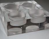 Simple yet elegant Crystal Gem, Tealight candlerholder by Oleg Cassini