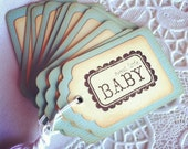 Sweet Little Baby - Blue Gift/Wish/Advice Tag