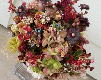 FALL Vintage / Antique Brooch Bouquet
