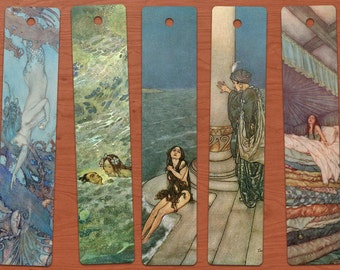 Edmund Dulac Printable Bookmark Set of 15 INSTANT DOWNLOAD