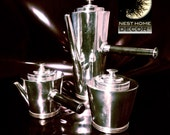 Elegant Sterling Silver GENTLEMEN'S Coffee Server  w Ebony Handle