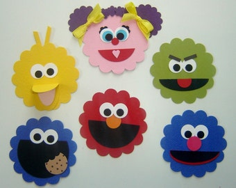 Sesame Street Character Punch Art - Birthday Party Decoration (1)