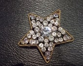 Reserved for Alexandra Vintage  Chanel Crystal Star Brooch