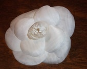 RESERVED - Chanel Single Ivory Camelia Brooch/Corsagé