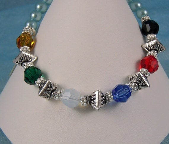 salvation bracelet no 3 colors of faith austrian crystals