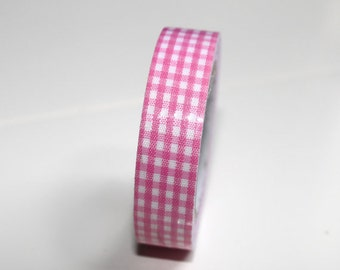 light pink gingham-pink tape- pink adhesive tape qty1