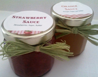 Dessert Sauce Twin Pack/ 4 OZ Each/ Any TWO/ Strawberry / Blackberry /Blueberry