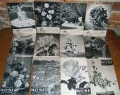 Complete Set of 1954 American Rose Garden Magazines