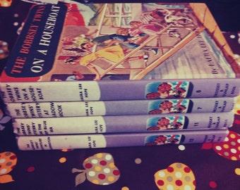 Set of 4 The Bobbsey Twins' Adventure Books