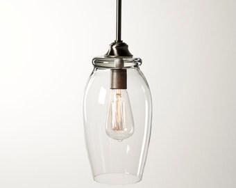 Pendant Light Fixture - Edison Bulb - Eggplant
