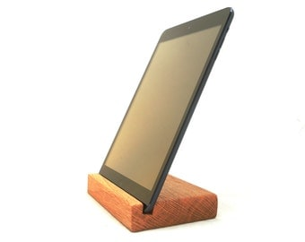 ipad stand reclaimed wood / rustic or non rustic fits all iPads and Iphone 6 and 6 plus