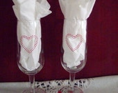 Toasting Glasses....Rehearsal Dinner....Event....Bridal Shower Gift....Decoration Tea Lights....Set of Two