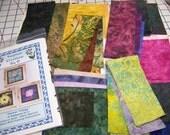 Flower Trilogy - 3 Designs in 1 - Art Quilt Pattern Kit