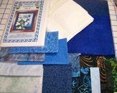 Trillium Blues  Art Quilt Pattern Kit