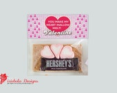You Make My Heart-Mallow Melt- Valentine's Day Printable Bag Topper