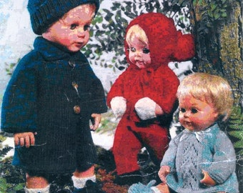 "PDF Vintage Knitting Patterns for Dolls - 12"" to 16"" Beautiful Layette"