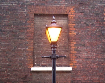 Lamp post, Elder Street in London  Fine Art Photograph 5 x 5 inches limited edition print