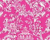 Chinoiserie Collection for Anna Griffin Fabrics One Yard of Temple in Pink
