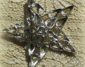 Vintage 50MM Star Rhinestone Brooch Setting Blank Pin 10x6MM Pears