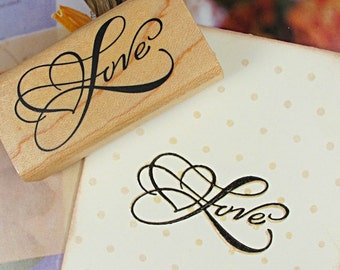 Wooden Rubber Stamp - Rubber Stamp - Diary Stamp - Blessing Stamp - Love 03
