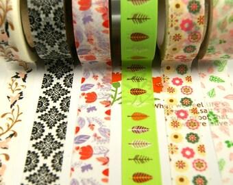 Washi Tape Set - Japanese Washi Tape - Masking Tape - Deco Tape - 5 Rolls - WTS2020