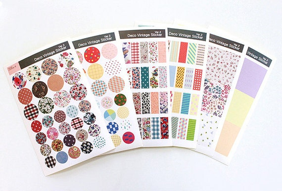 Parasol Cantilever Sale : Deco Vintage Sticker Set Masking Sticker Set Diary