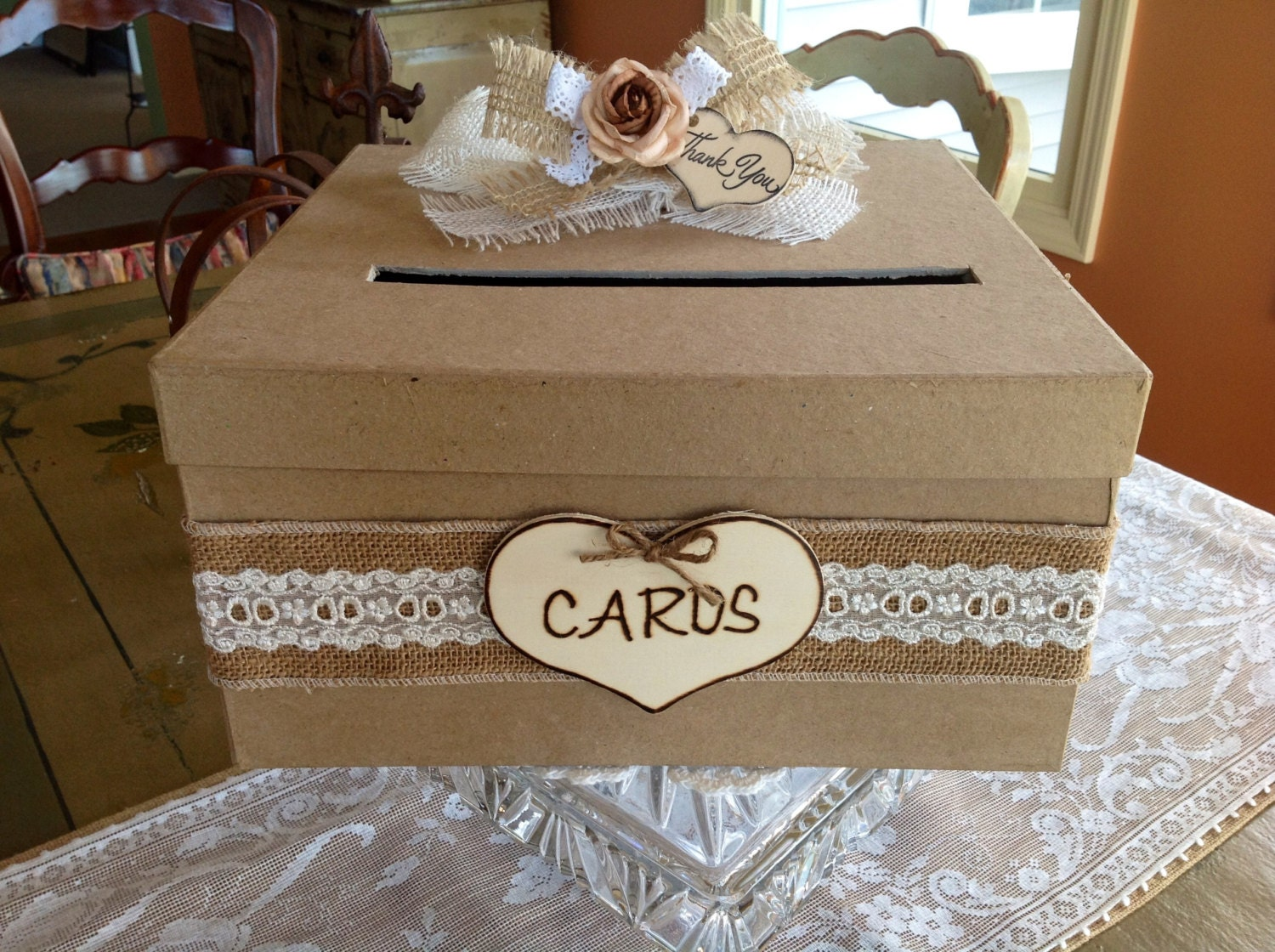 Rustic Wedding Gift Card Box : Request a custom order and have something made just for you.