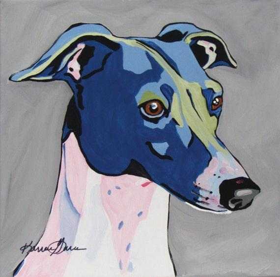 Italian Greyhound Iggy Whippet Greyhound Dog Art Pop Art