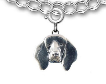 Sterling Silver Coonhound Charm