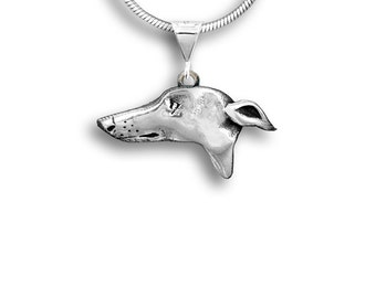Sterling Silver Greyhound Lg Pendant