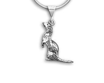 Sterling Silver Ferret Pendant