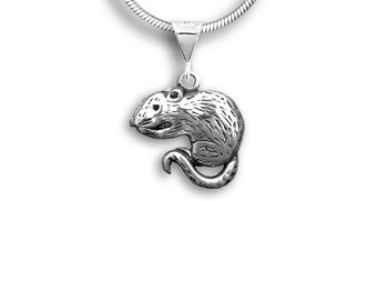 Sterling Silver Rat Pendant