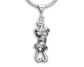 SS Hanging Monkey Pendant