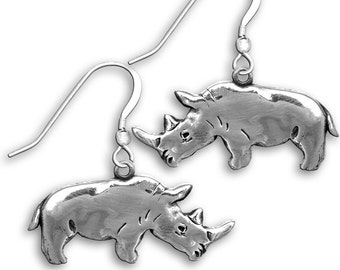 SS Rhinoceros Earrings