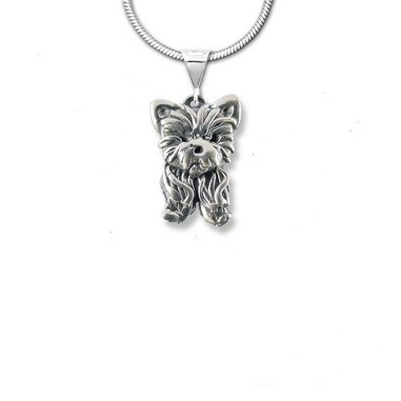 Sterling Silver Yorkie Puppy Pendant
