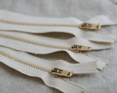 6 inch Organic Zippers (five pieces)