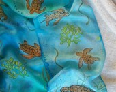 Under The Sea Hand Painted Silk Scarf 11 x 60