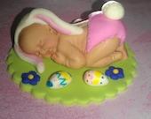 Sleeping baby Easter Bunny