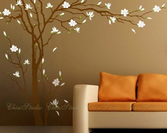 "Tree Decals Nursery Wall Sticker Baby room Murals-102"" Tall Plum blossoms Tree Decal, Vinyl Wall Decal Wall sticker"