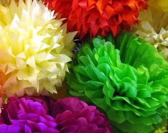Tissue Paper Pom Poms Set of 50 /Ceremony/Parties/Decorations/Weddings/Birthday decor