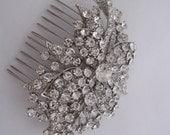 1920's Bridal accessories Wedding hair comb Bridal hair accessories 1920's Wedding hair jewelry Bridal hair comb Wedding jewelry Bridal comb